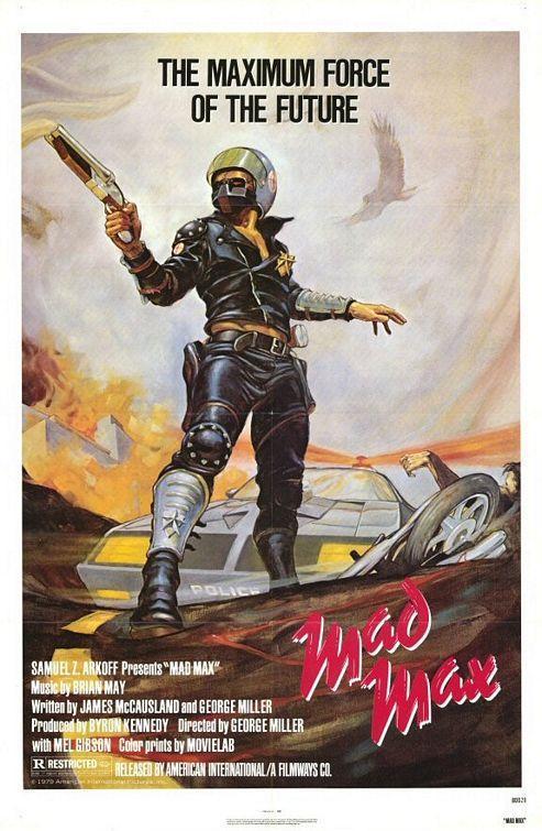 Cartel de Mad Max, salvajes de autopista