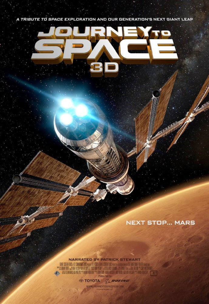 Cartel de Viaje al espacio. Próxima parada: Marte