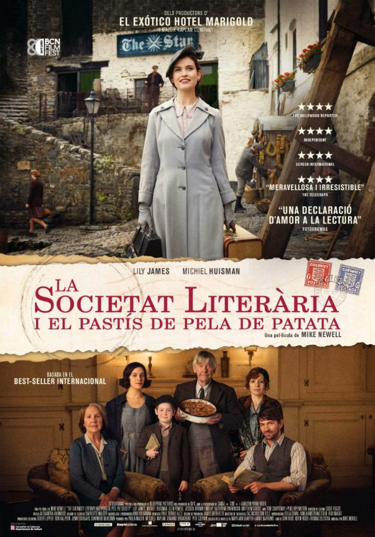 Cartel de La sociedad literaria y el pastel de piel de patata
