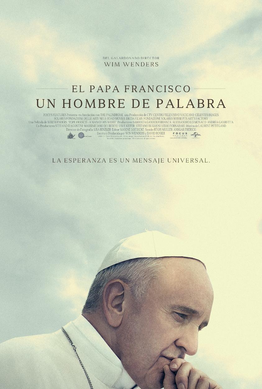 Cartel de El Papa Francisco. Un hombre de palabra