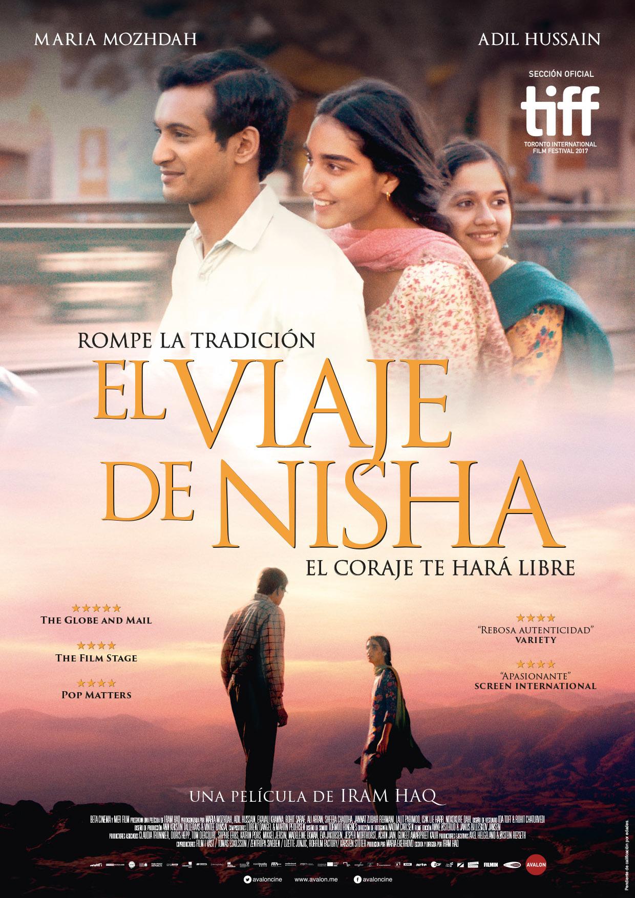 Cartel de El viaje de Nisha