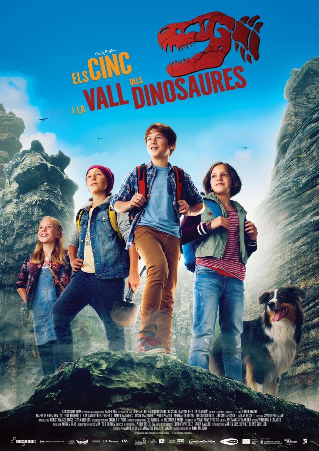 Cartel de Los Cinco y el valle de los Dinosaurios