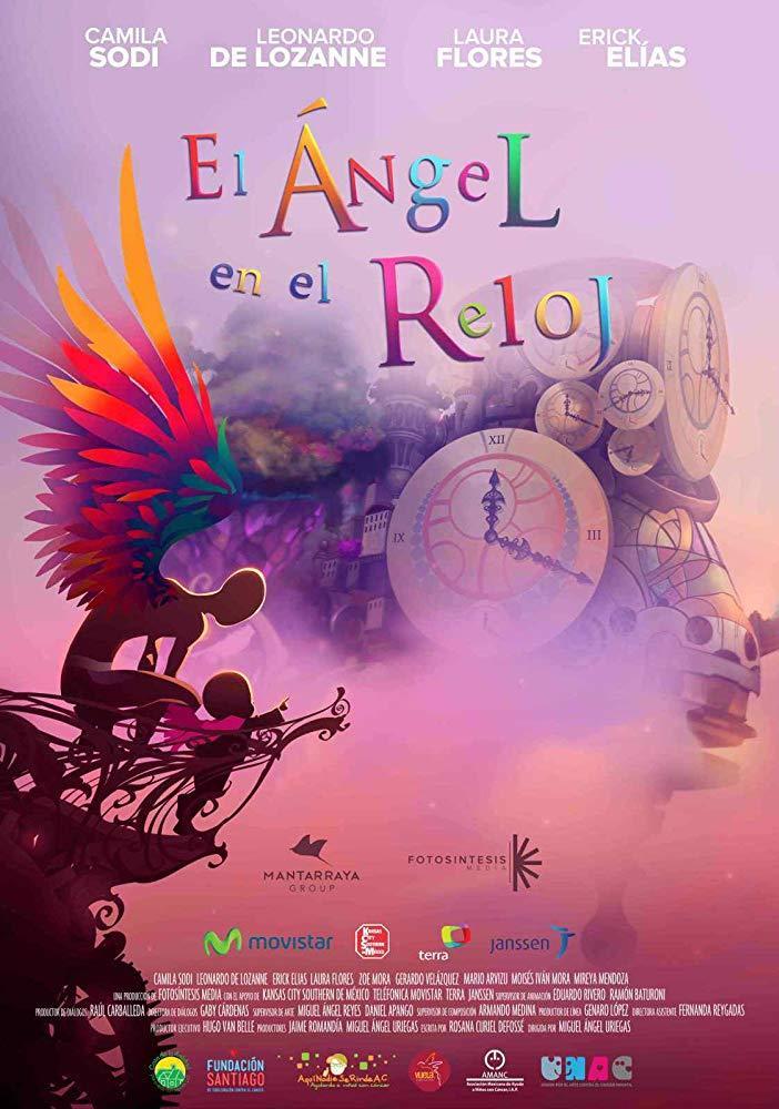 Cartel de El ángel en el reloj