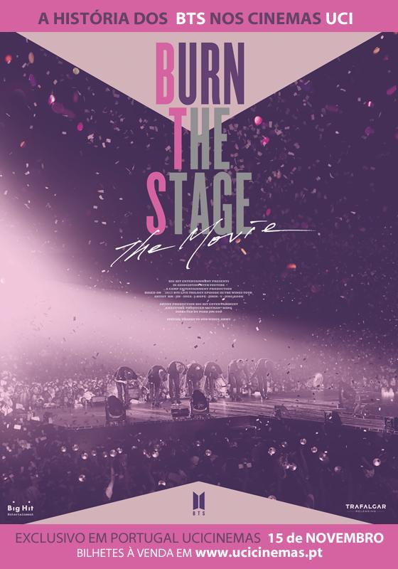 Cartel de Burn the Stage: La película