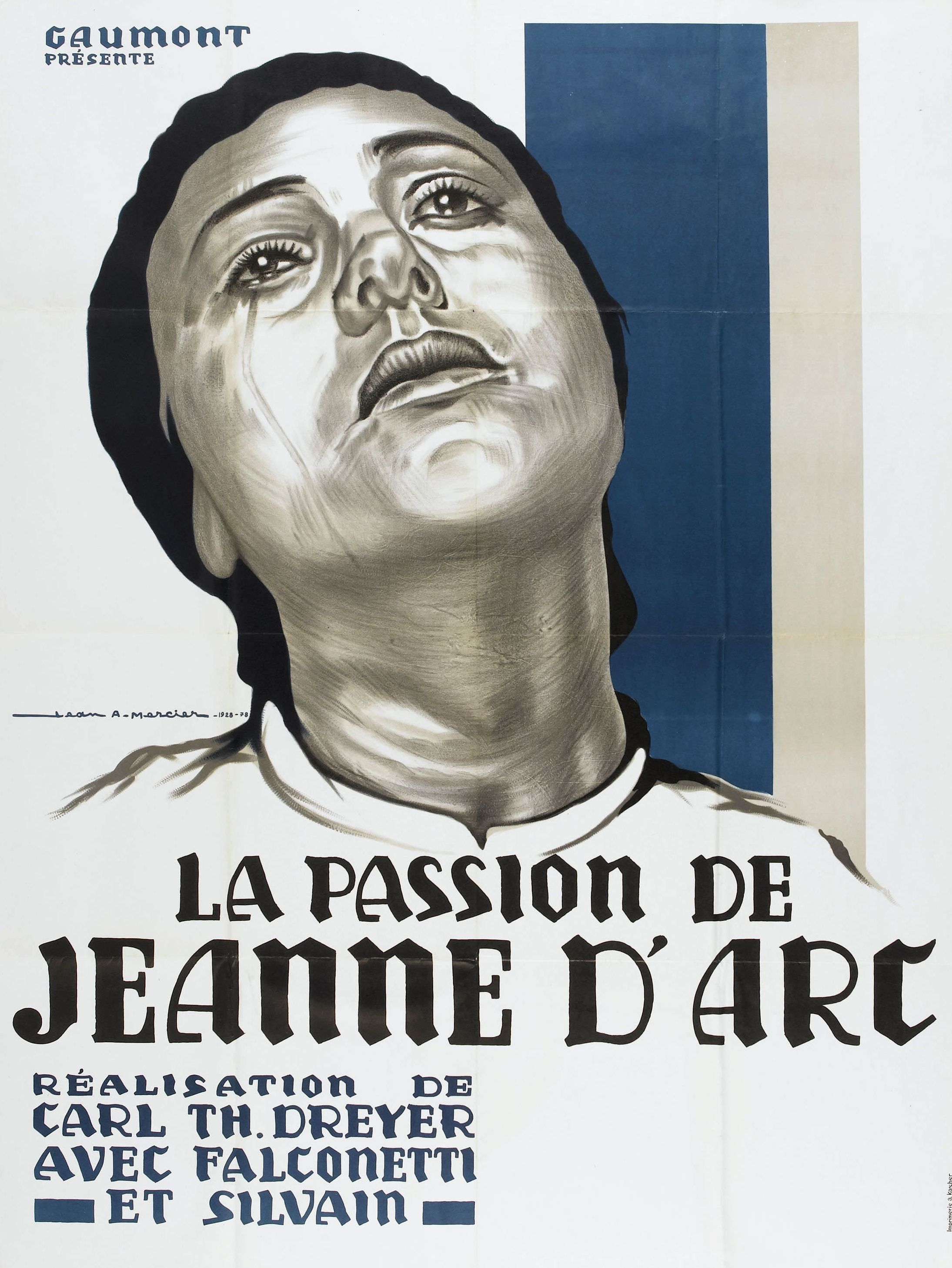 Cartel de La pasión de Juana de Arco