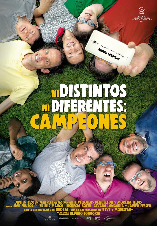 Cartel de Ni distintos ni diferentes: Campeones