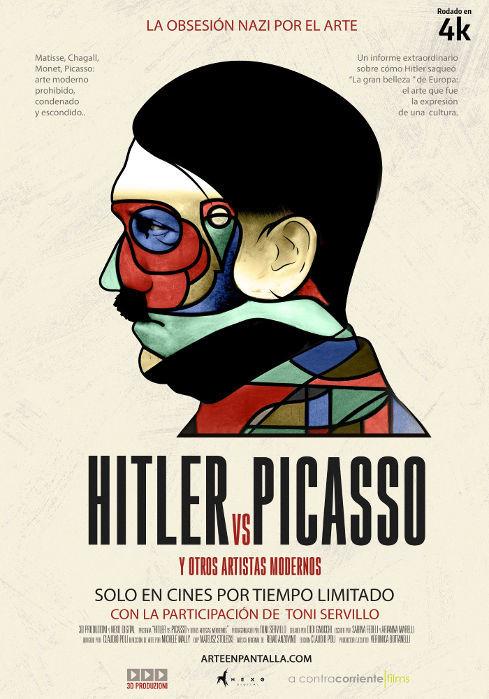Cartel de Hitler vs. Picasso (y otros artistas modernos)