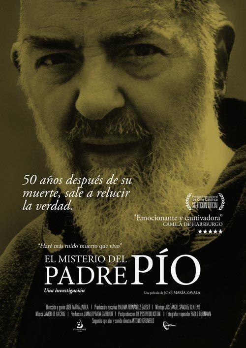 Cartel de El misterio del Padre Pío