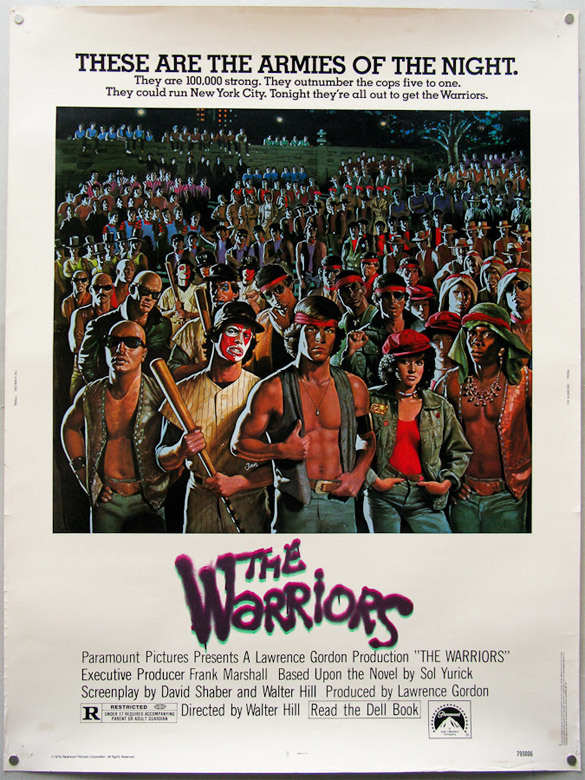 Cartel de The warriors. Los amos de la noche