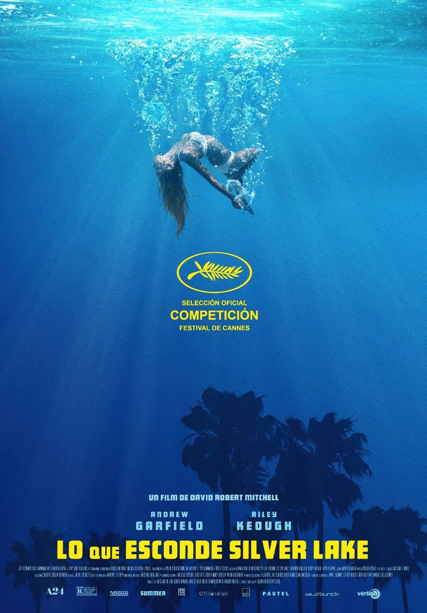 Cartel de Lo que esconde Silver Lake