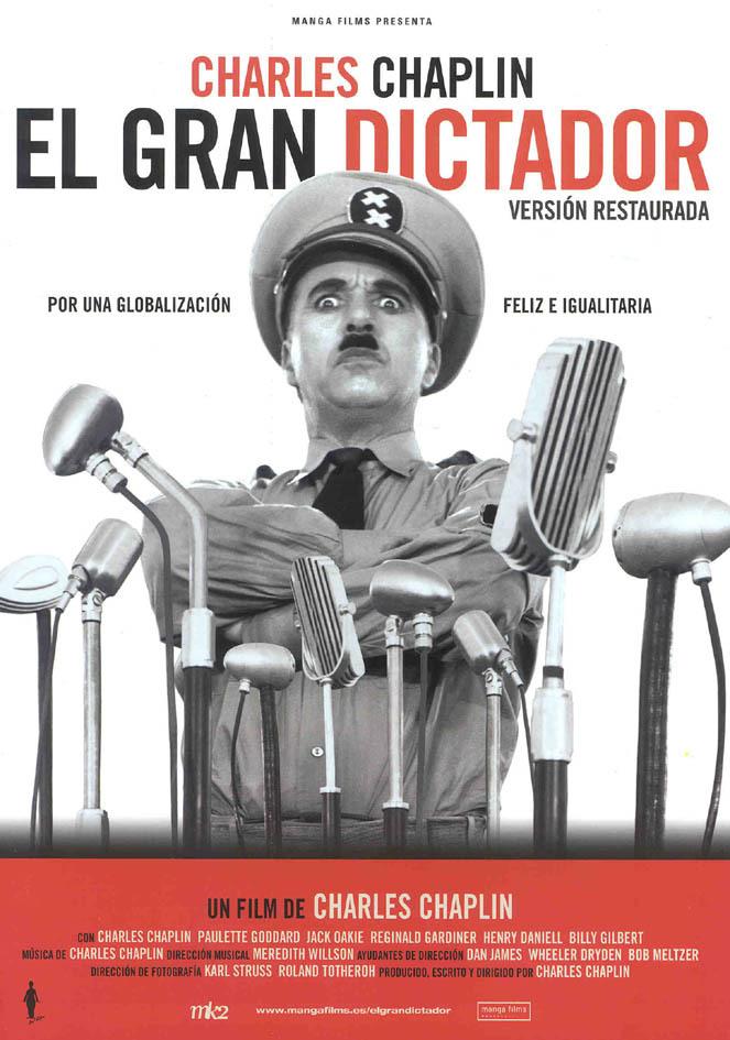 Cartel de El gran dictador
