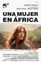 Cartel de Una mujer en África