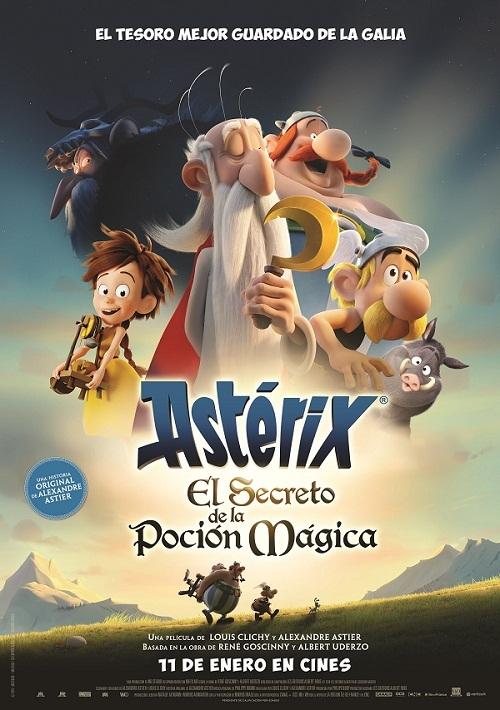 Cartel de Astérix: El secreto de la poción mágica