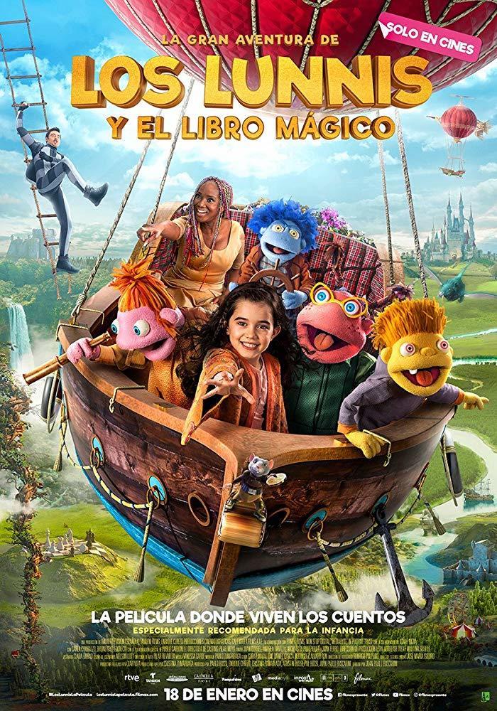 Cartel de La gran aventura de los Lunnis y el libro mágico