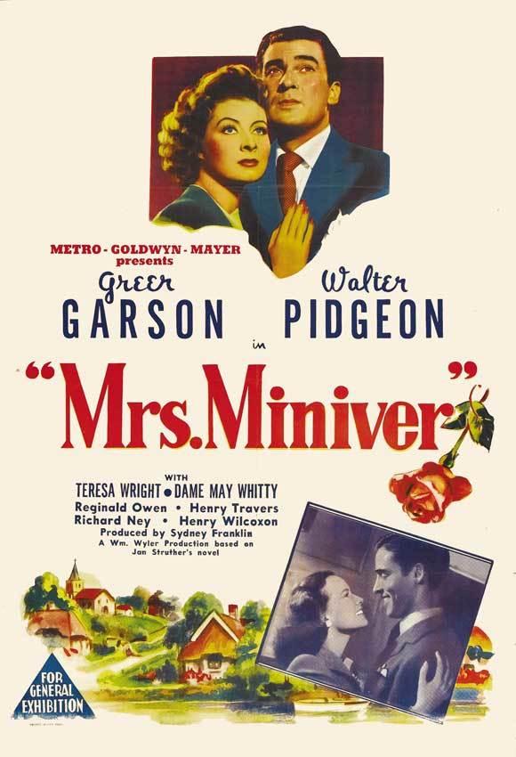 Cartel de La señora Miniver