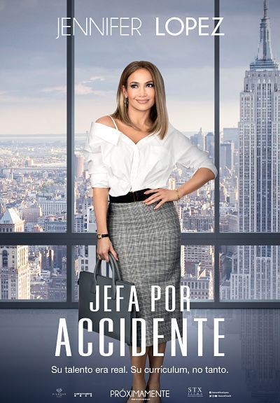 Cartel de Jefa por accidente