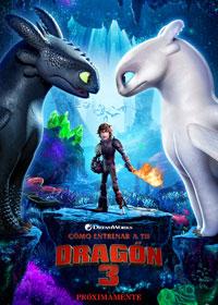 Cartel de Cómo entrenar a tu dragón 3