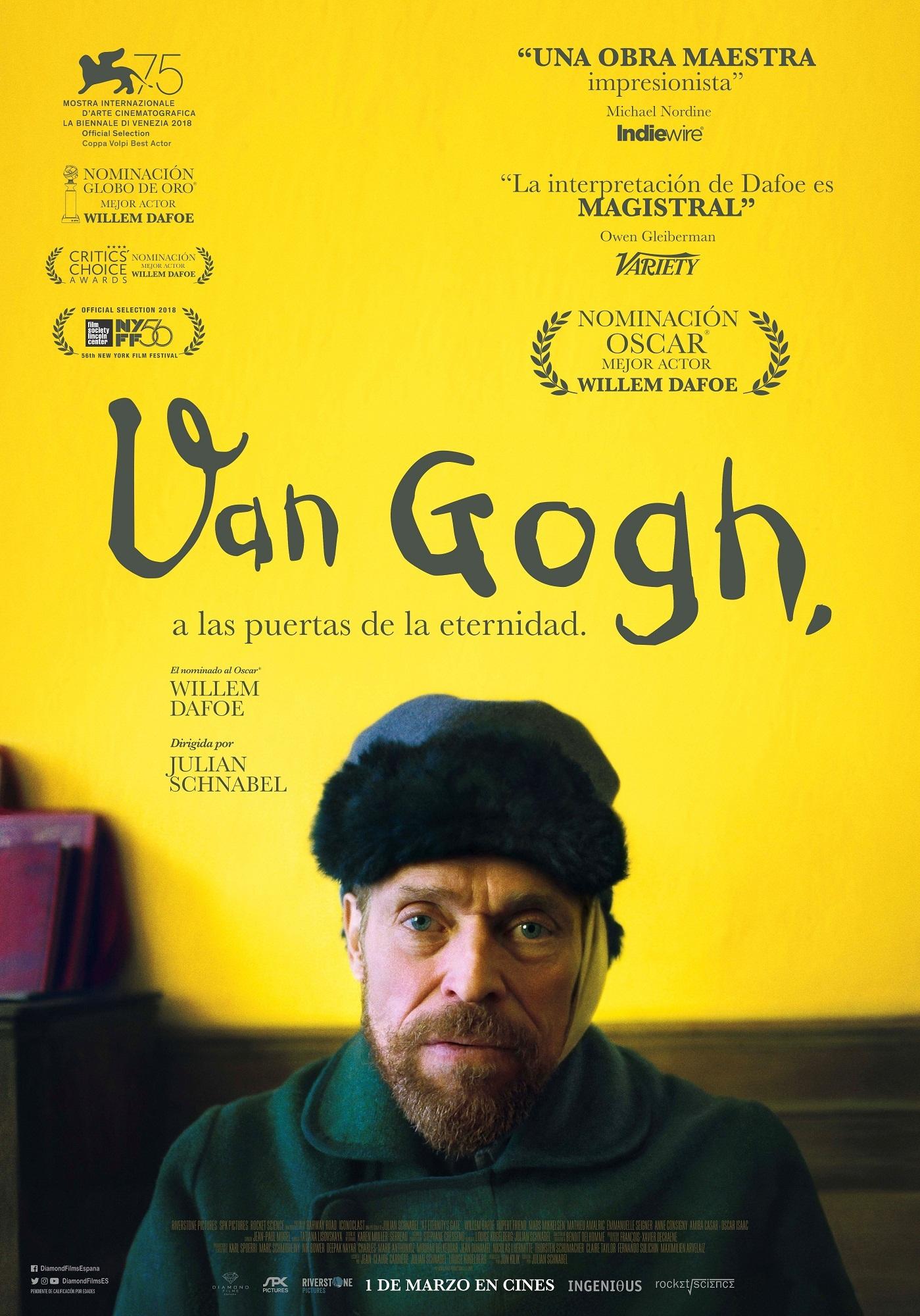 Cartel de Van Gogh, a las puertas de la eternidad