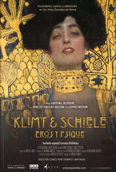 Cartel de Klimt y Schiele. Eros y Psyche