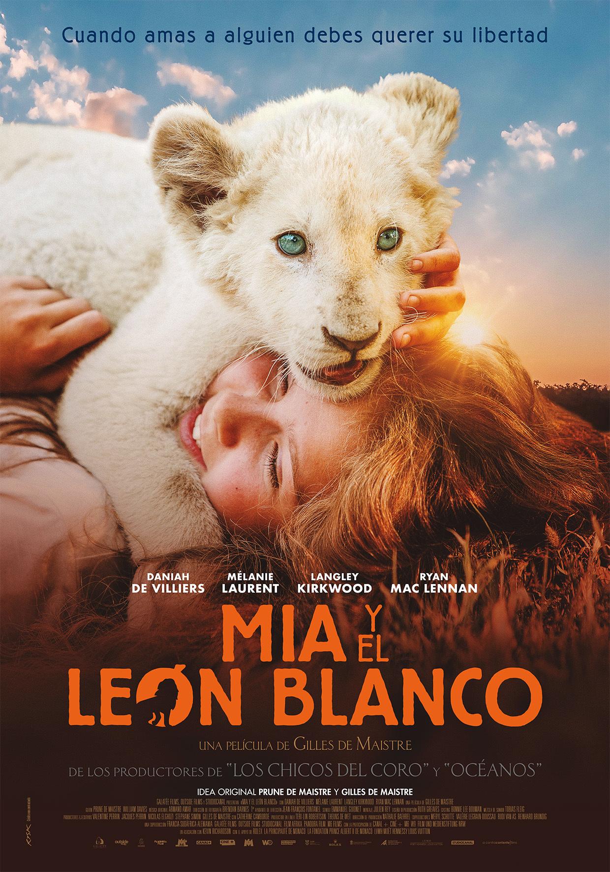 Cartel de Mia y el león blanco