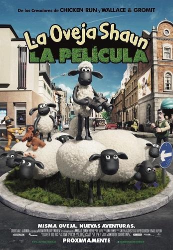 Cartel de La oveja Shaun. La película