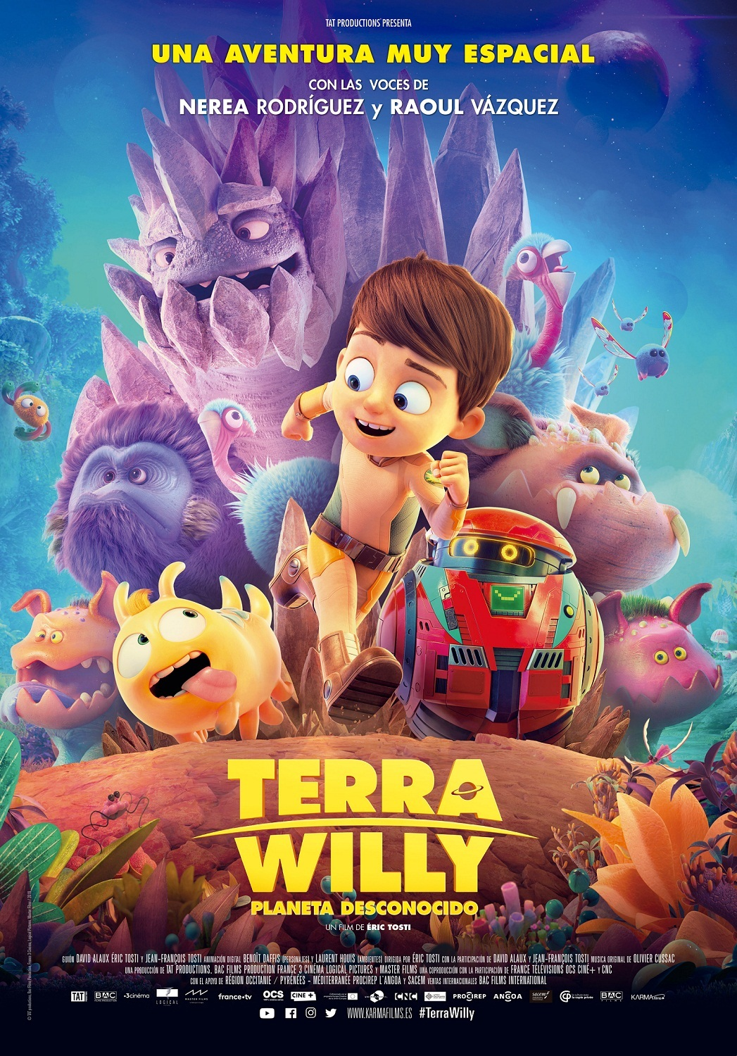 Cartel de Terra Willy: Planeta desconocido
