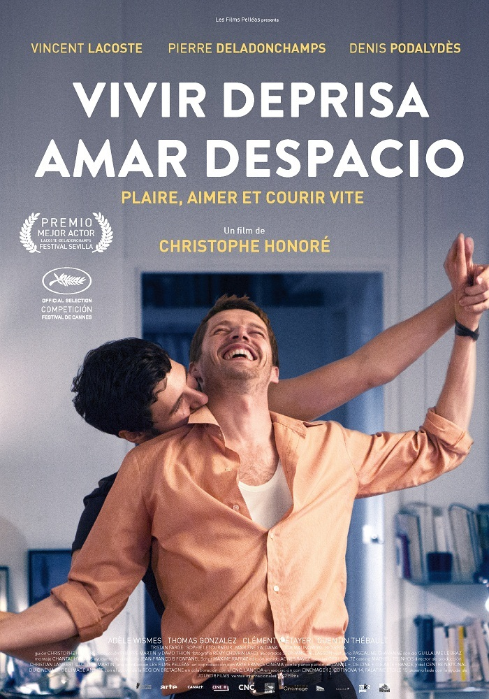 Cartel de Vivir deprisa, amar despacio