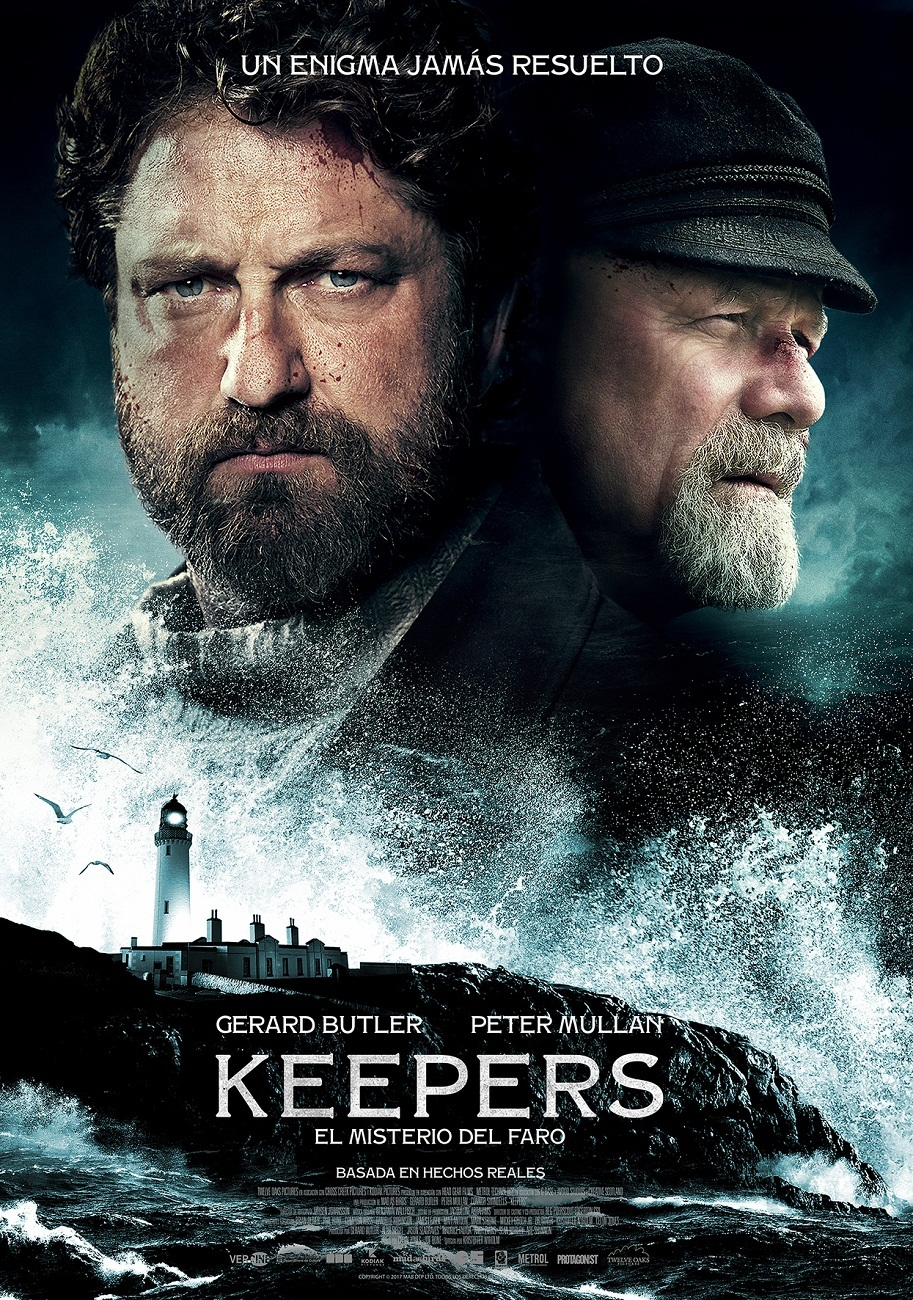 Cartel de Keepers. El misterio del faro