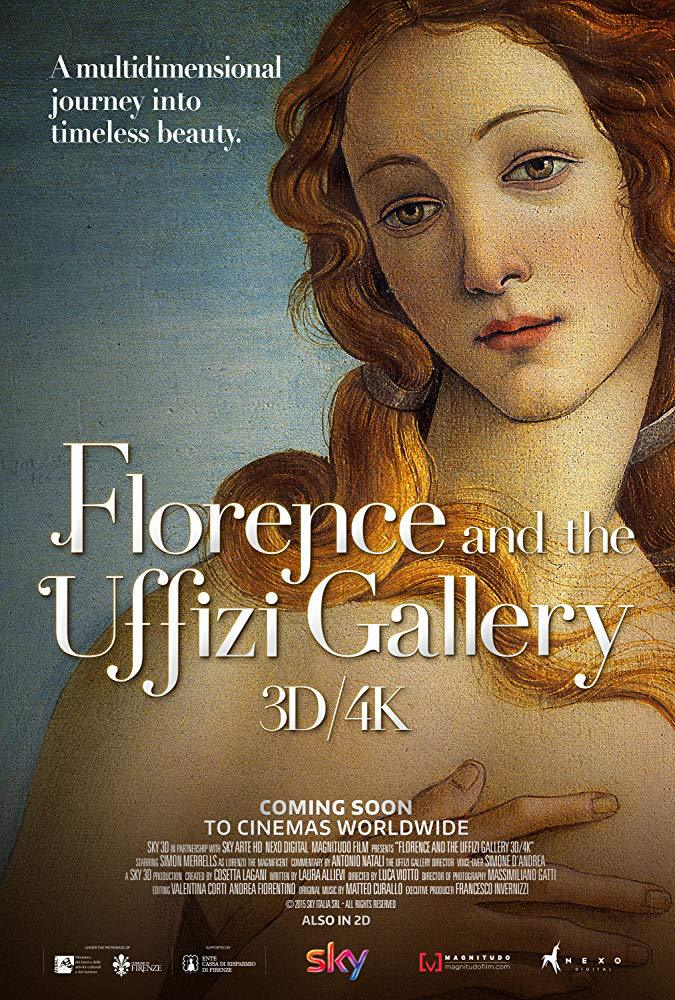 Cartel de Florencia y la galeria de los Uffizzi. Un viaje al corazón  del Renacimiento