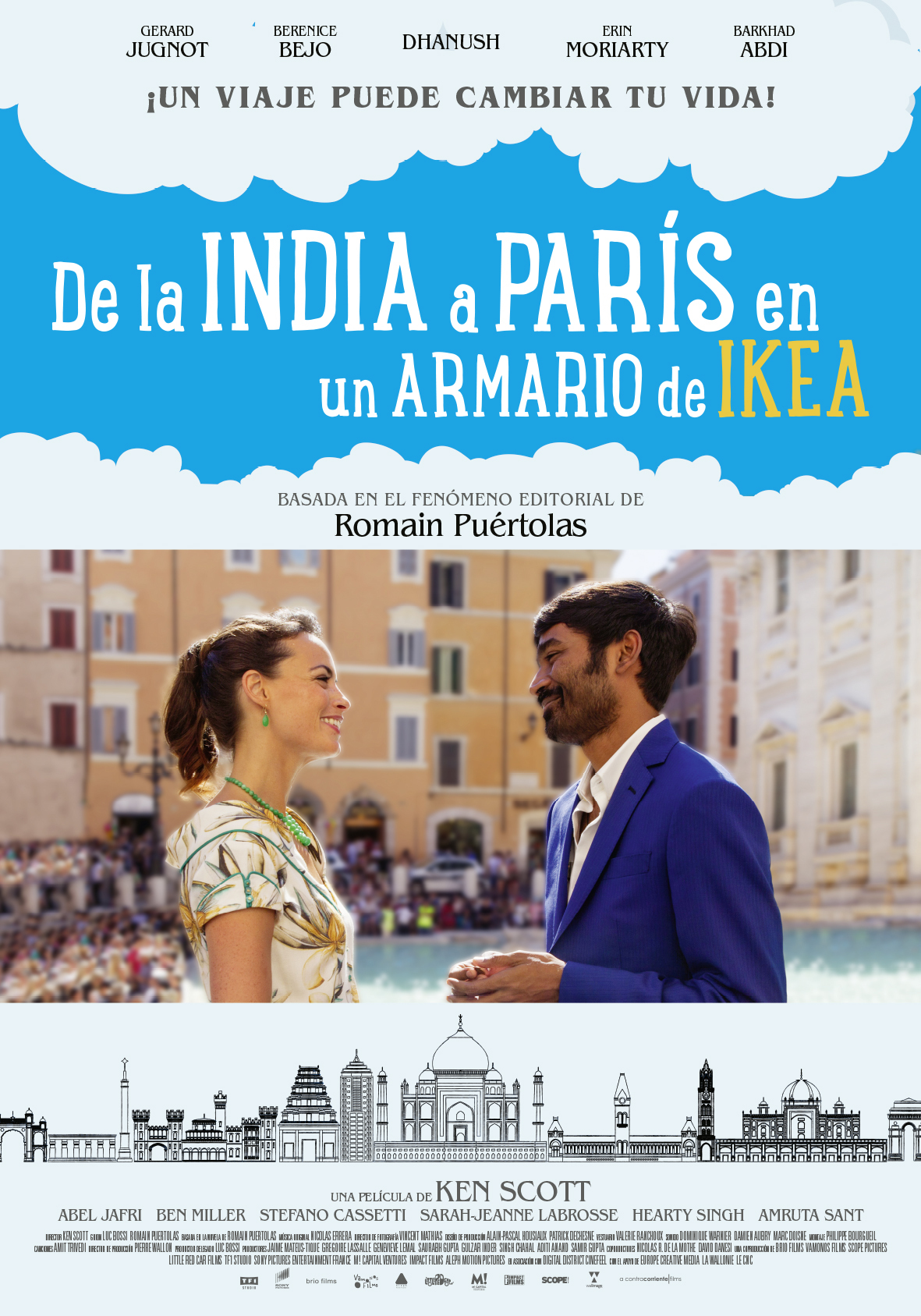 Cartel de De la India a París en un armario de Ikea