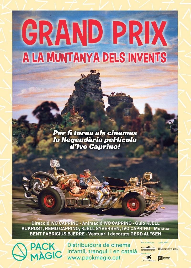 Cartel de Grand Prix en la montaña de los inventos