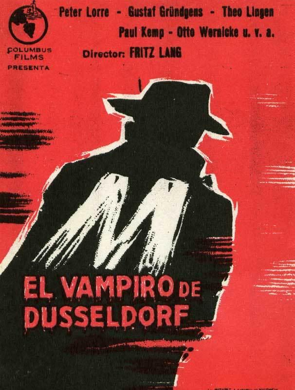 Cartel de M, el vampiro de Düsseldorf