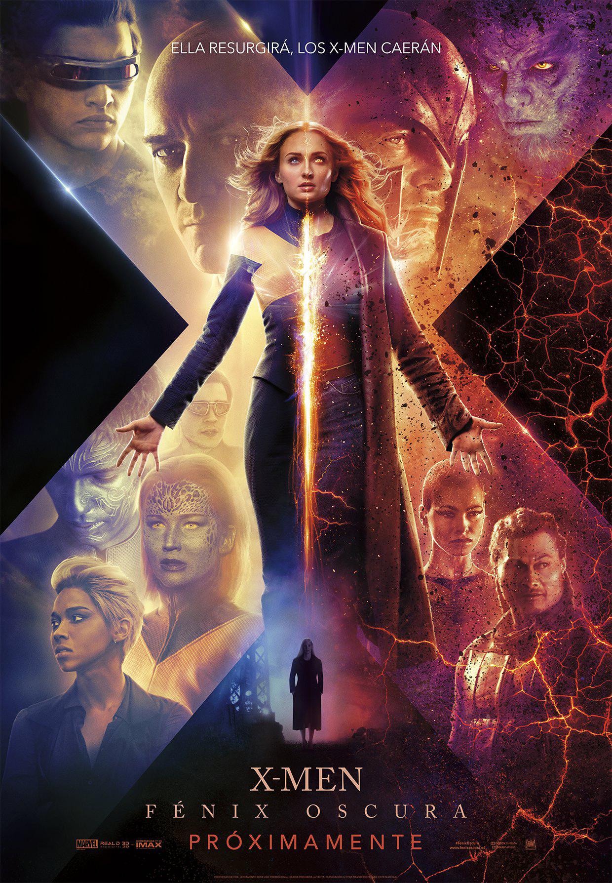 Cartel de X-Men: Fénix Oscura