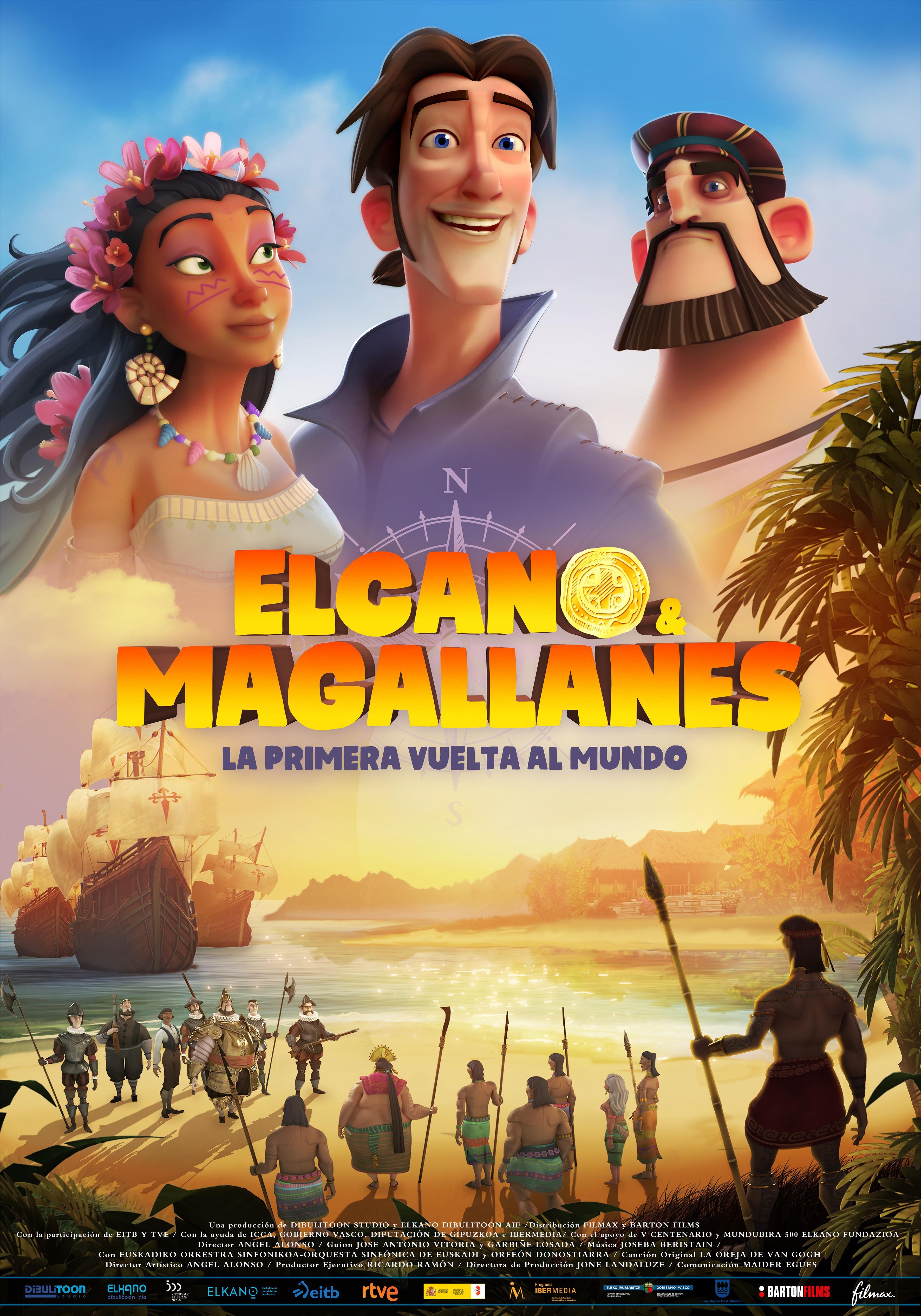 Cartel de Elcano y Magallanes: la primera vuelta al mundo