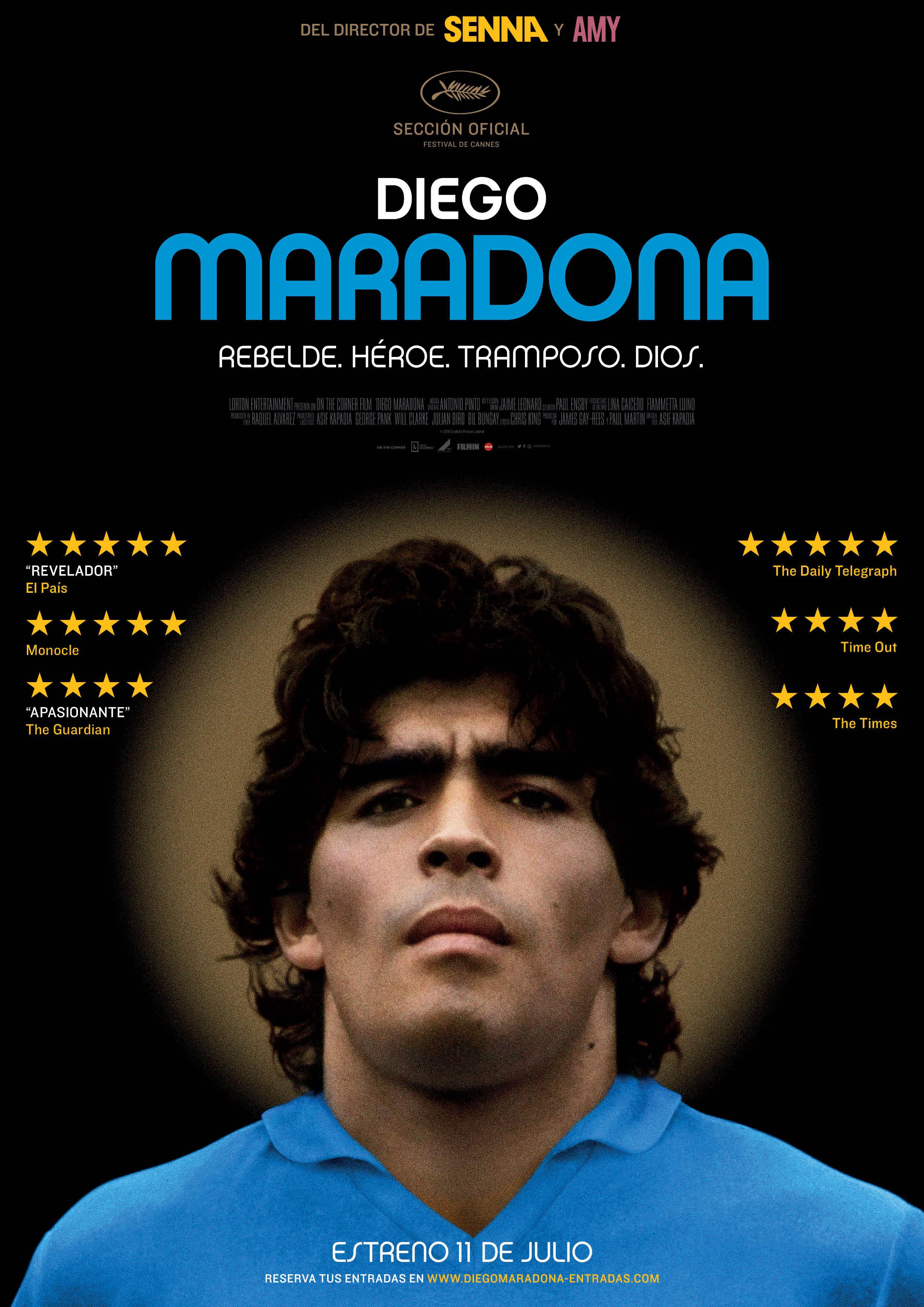 Cartel de Diego Maradona