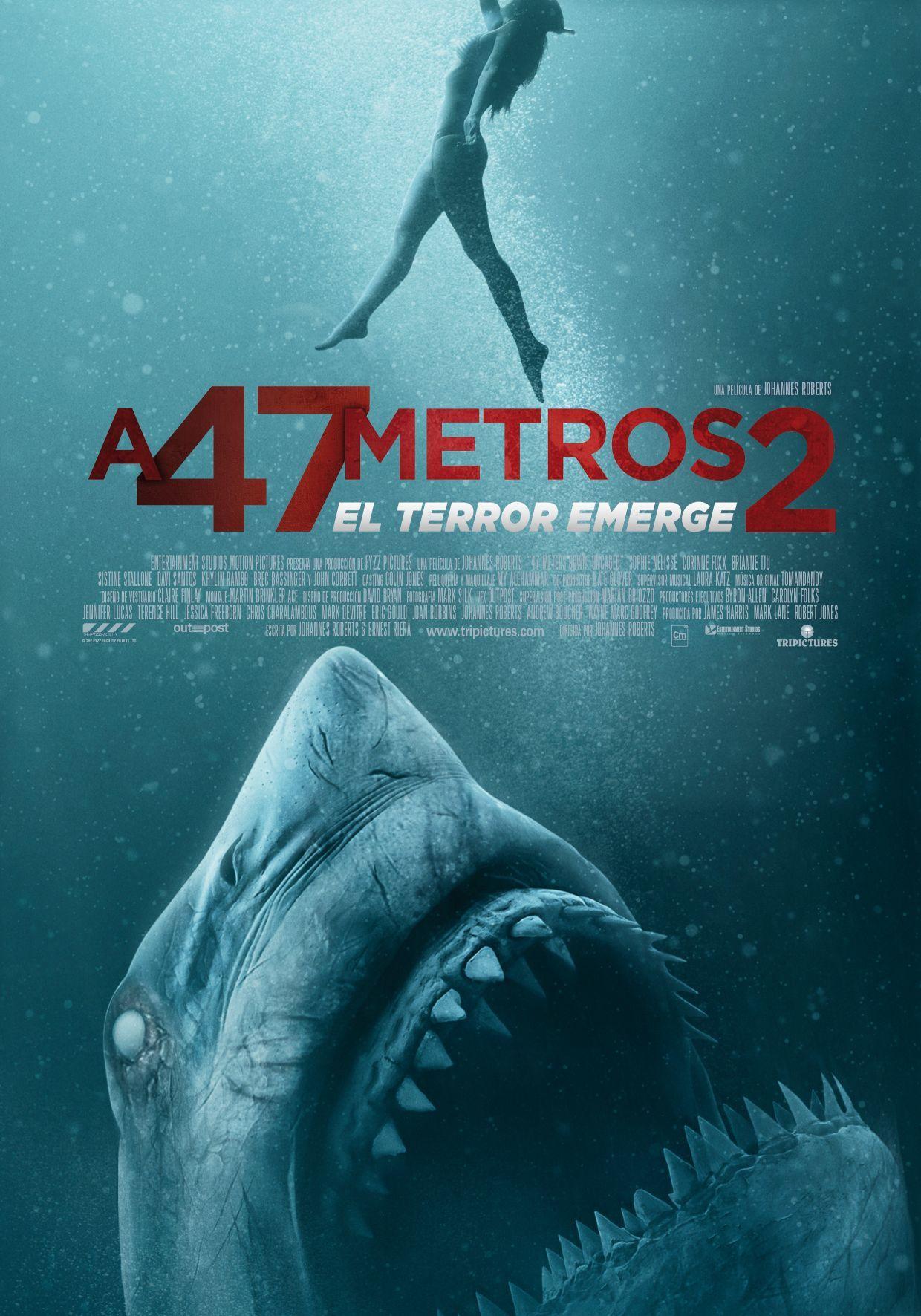 Cartel de A 47 metros 2: El terror emerge