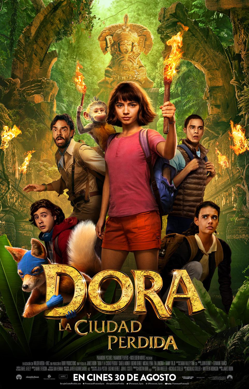 Cartel de Dora y la ciudad perdida