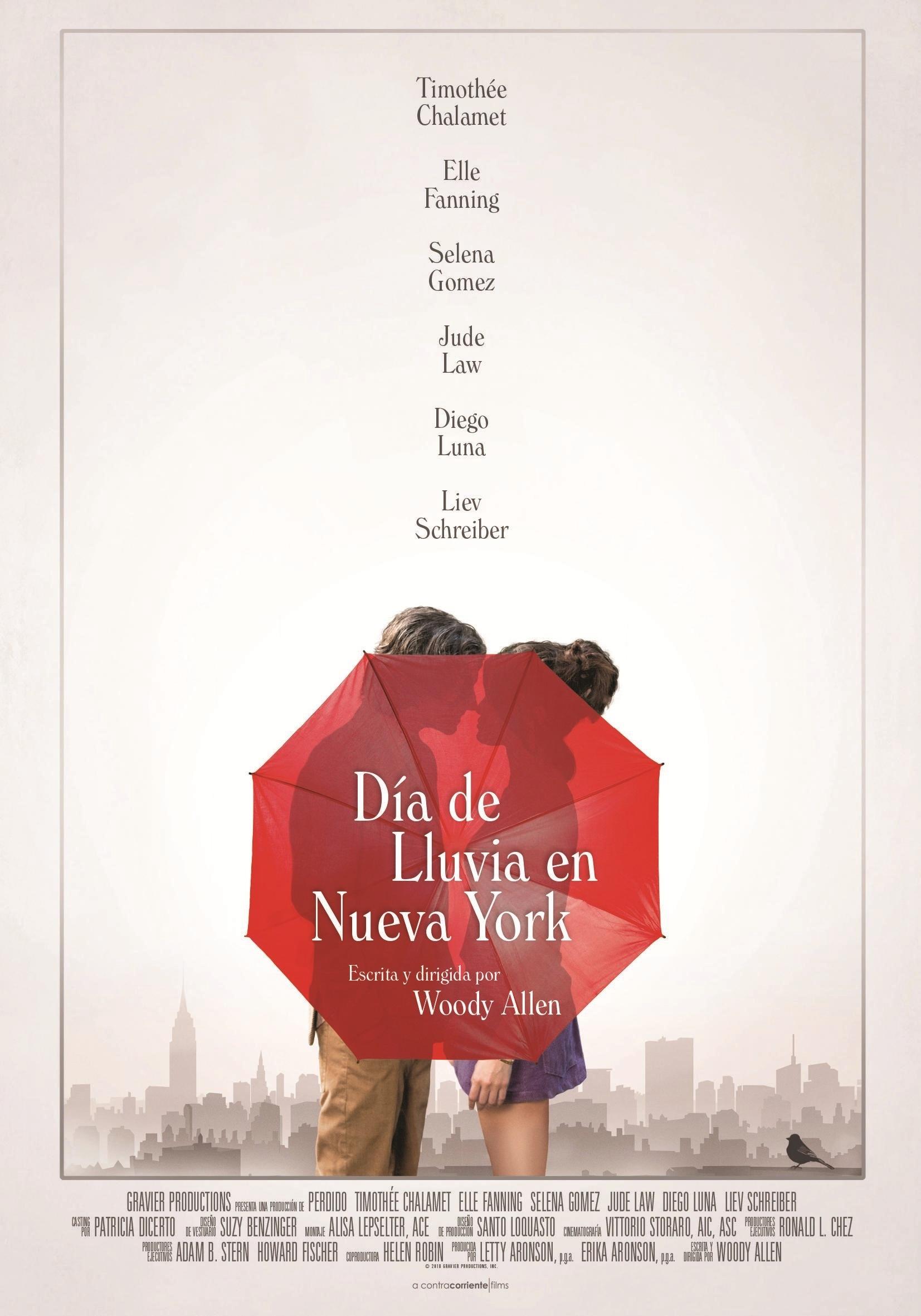 Cartel de Día de lluvia en Nueva York