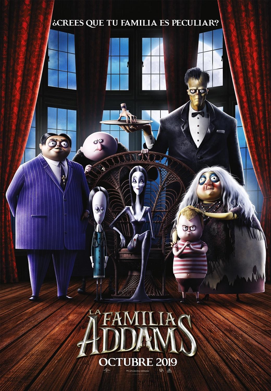 Cartel de La familia Addams