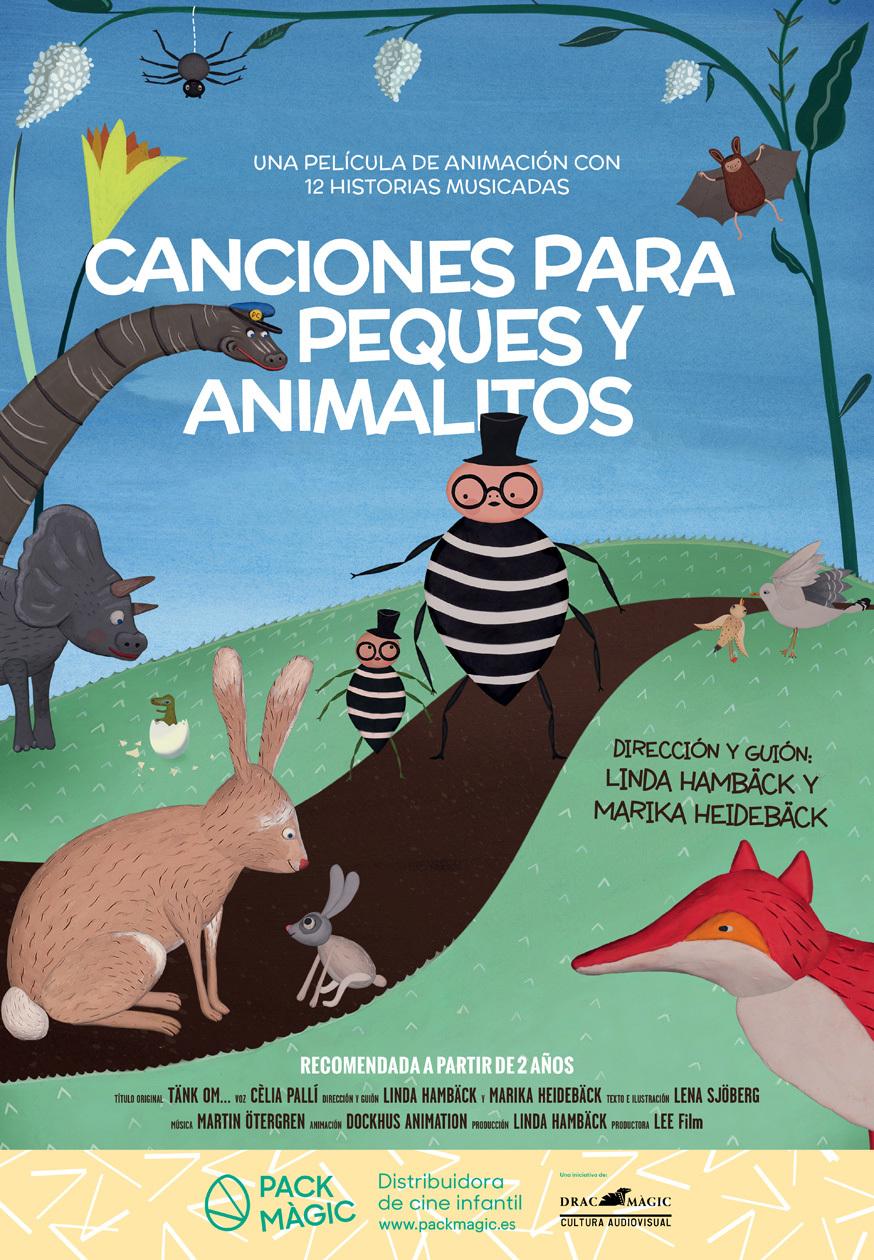 Cartel de Canciones para peques y animalitos