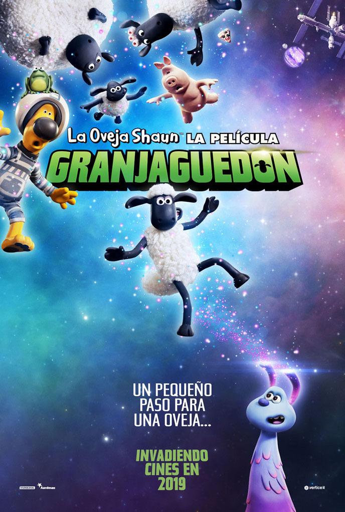 Cartel de La oveja Shaun, la película: Granjaguedón