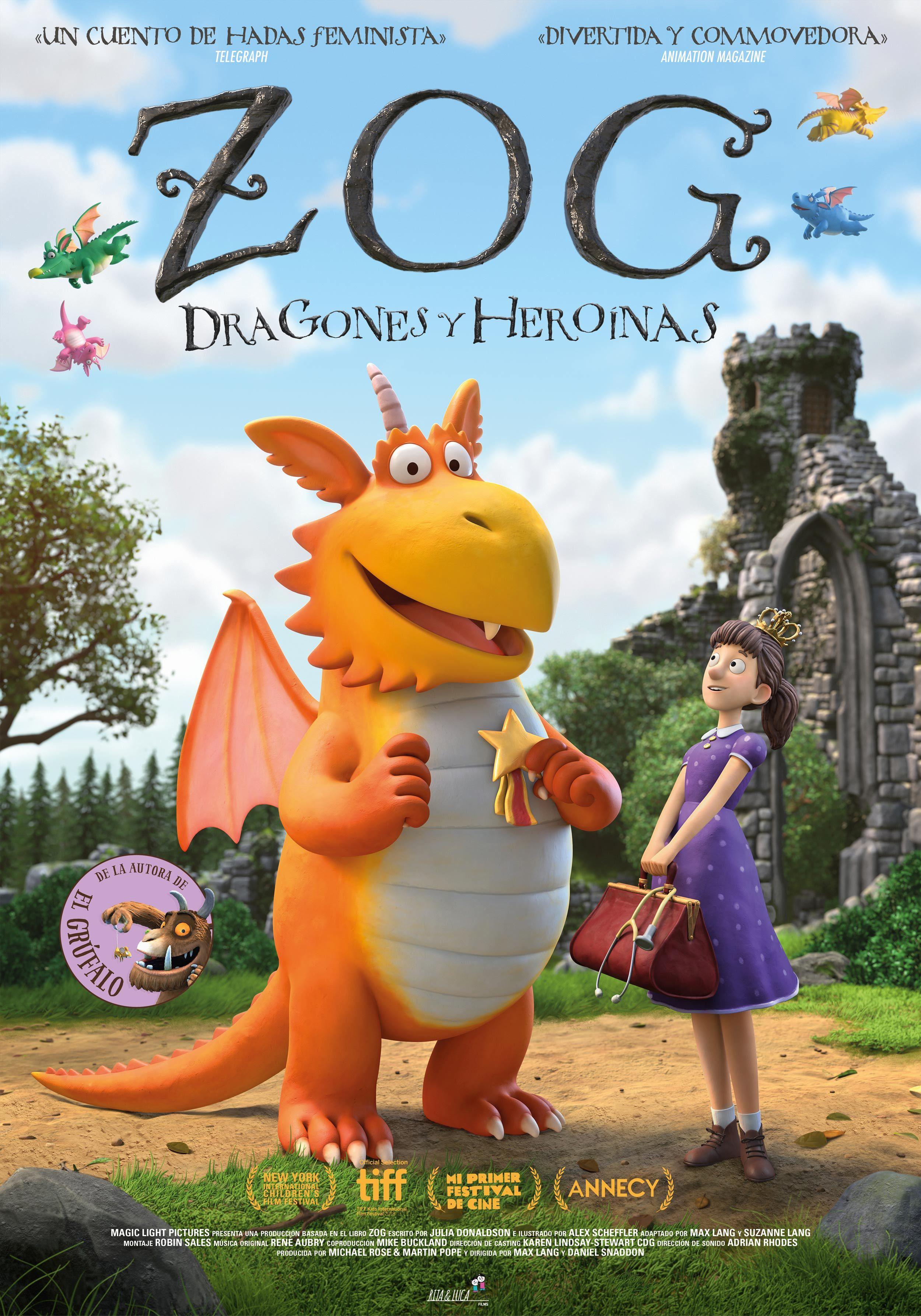 Cartel de Zog, dragones y heroínas
