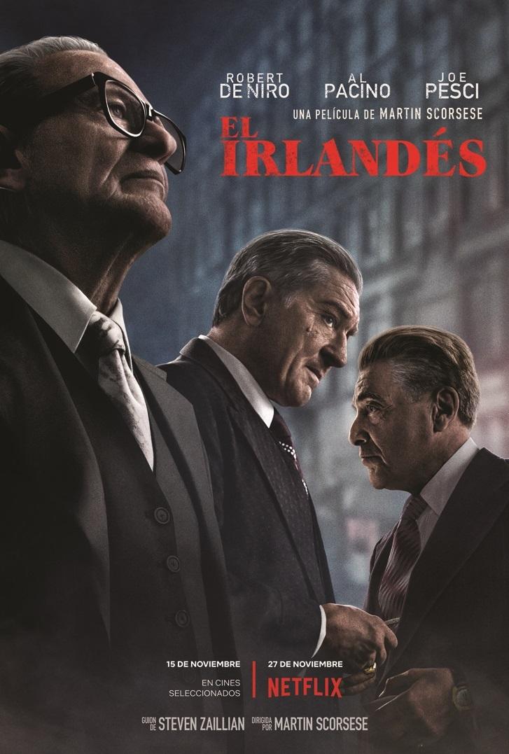 Cartel de El irlandés