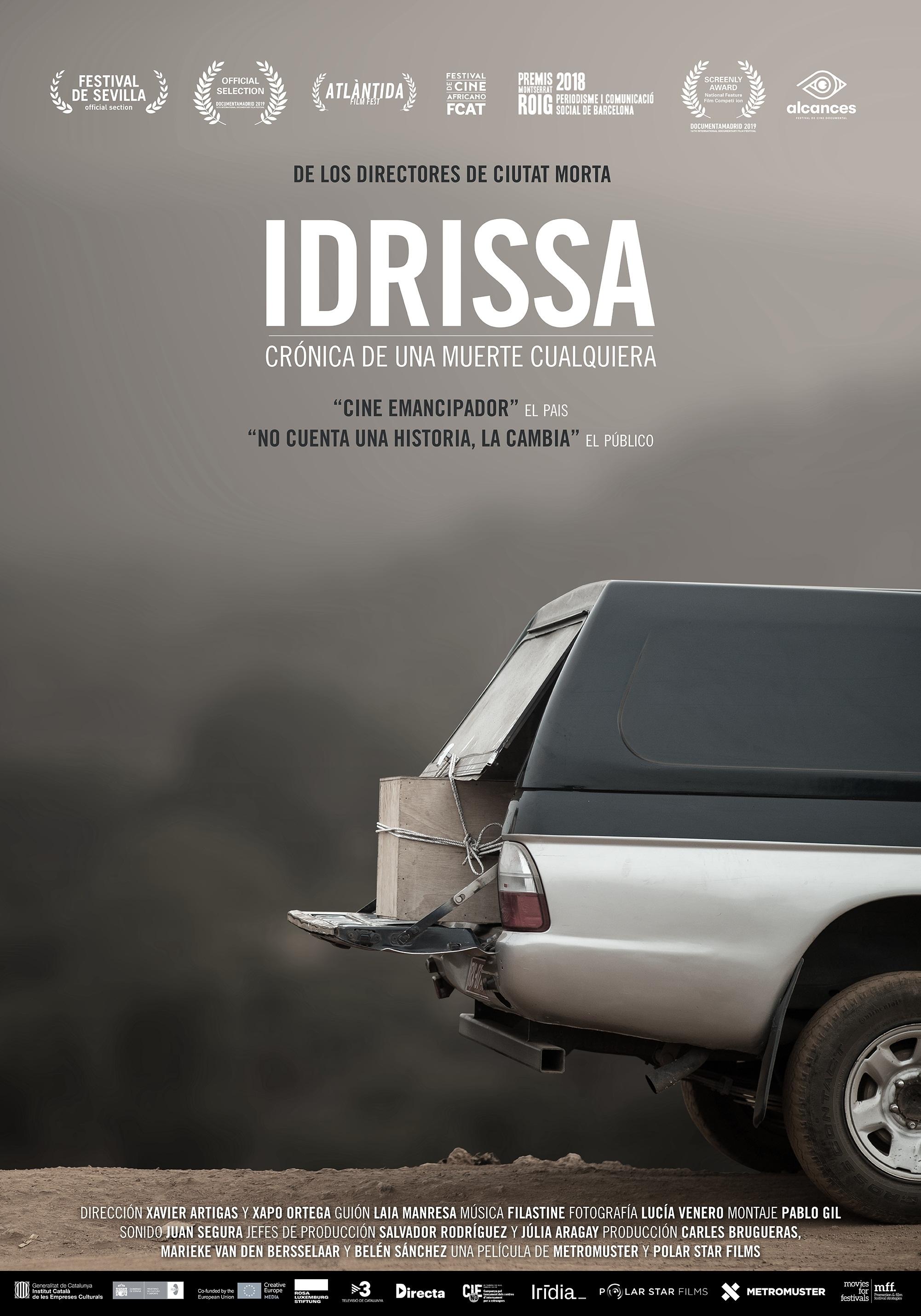 Cartel de Idrissa, crónica de una muerte cualquiera