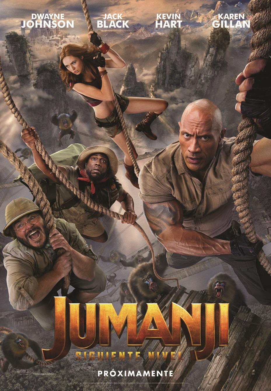 Cartel de Jumanji: siguiente nivel