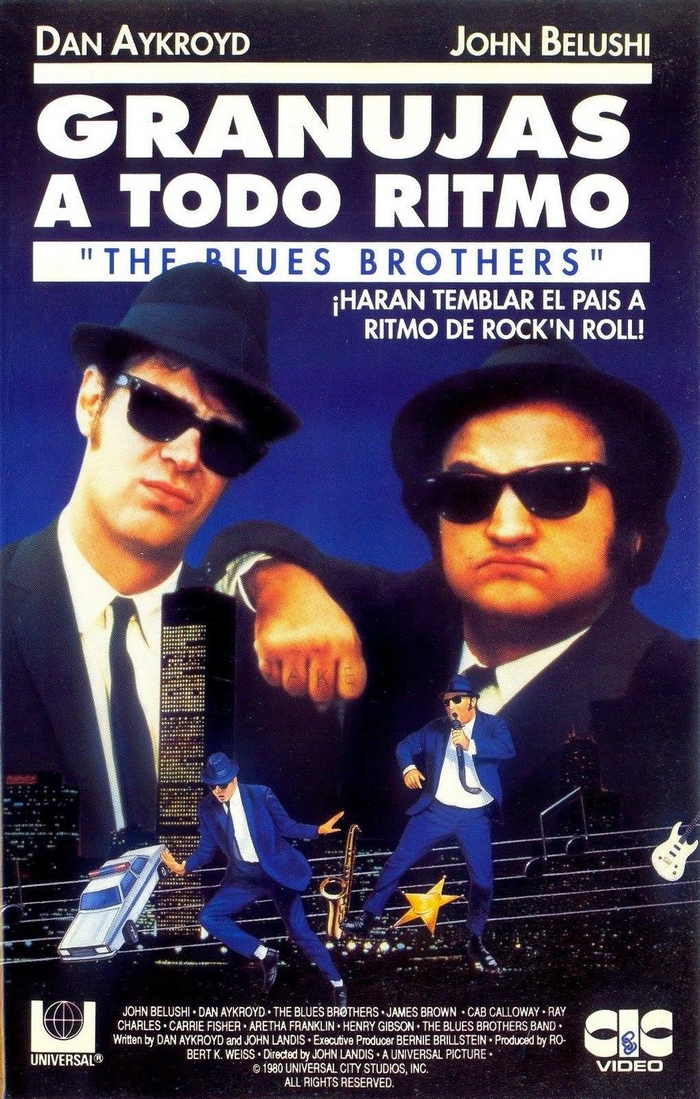 Cartel de Granujas a todo ritmo (The Blues Brothers)