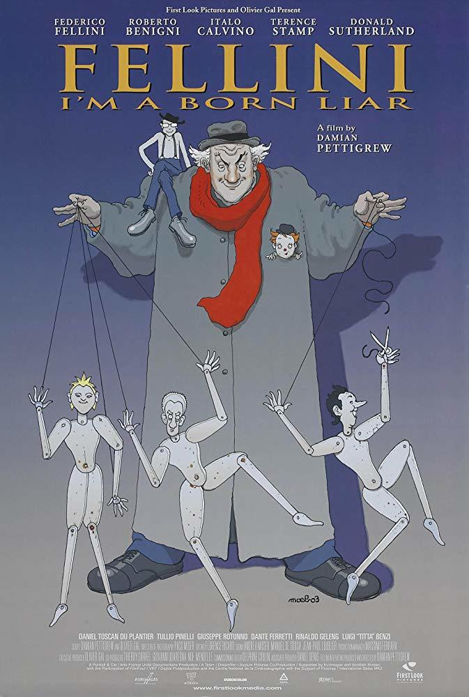Cartel de Fellini: soy un gran mentiroso