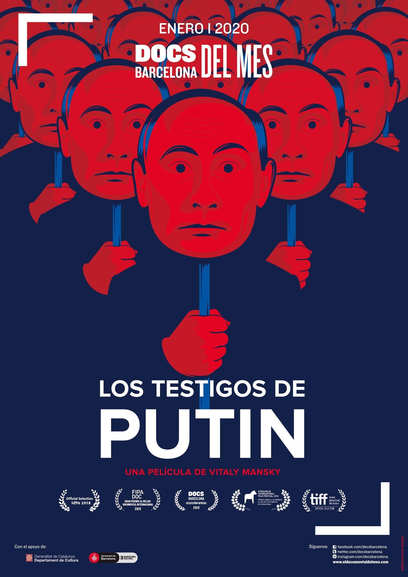 Cartel de Los testigos de Putin