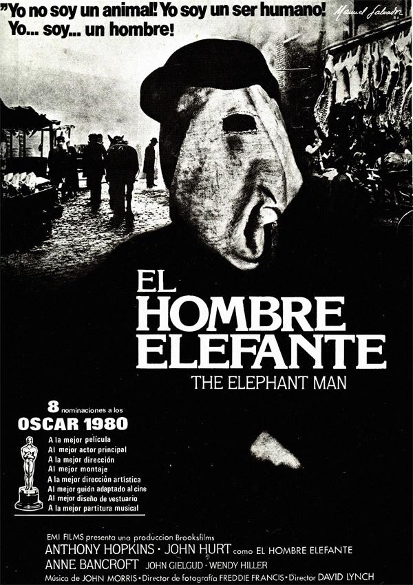 Cartel de El hombre elefante