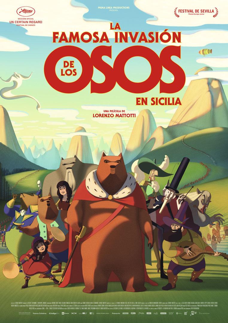 Cartel de La famosa invasión de los osos en Sicilia